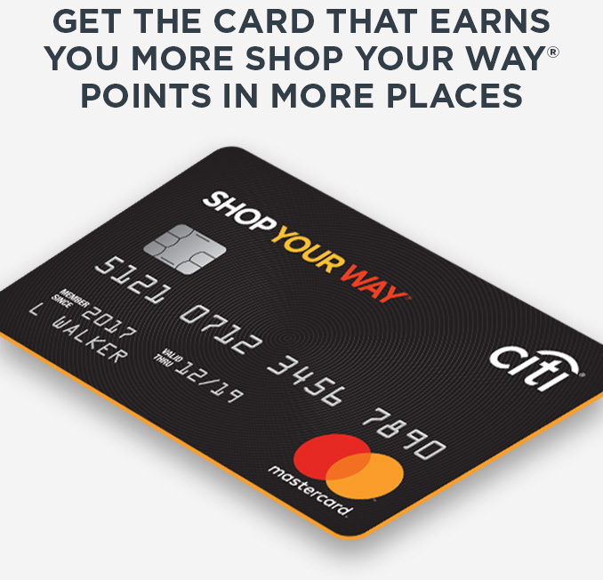 Shop Your Way - Get the card 💳 that rewards + a $11 credit