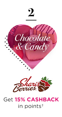 2 | Chocolate & Candy | Shari's Berries® | Get 15% CASHBACK in points†