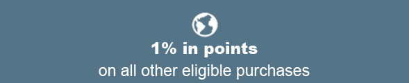 1% in points on all other eligible purchases