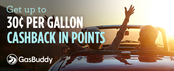 Get up to 30¢ PER GALLON CASHBACK IN POINTS | GasBuddy