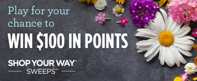 Play for your chance to WIN $100 IN POINTS | SHOP YOUR WAY® SWEEPS℠
