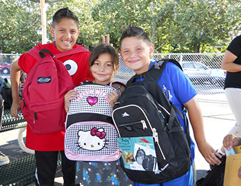 Past Family Giving Tree Backpack Drive recipients