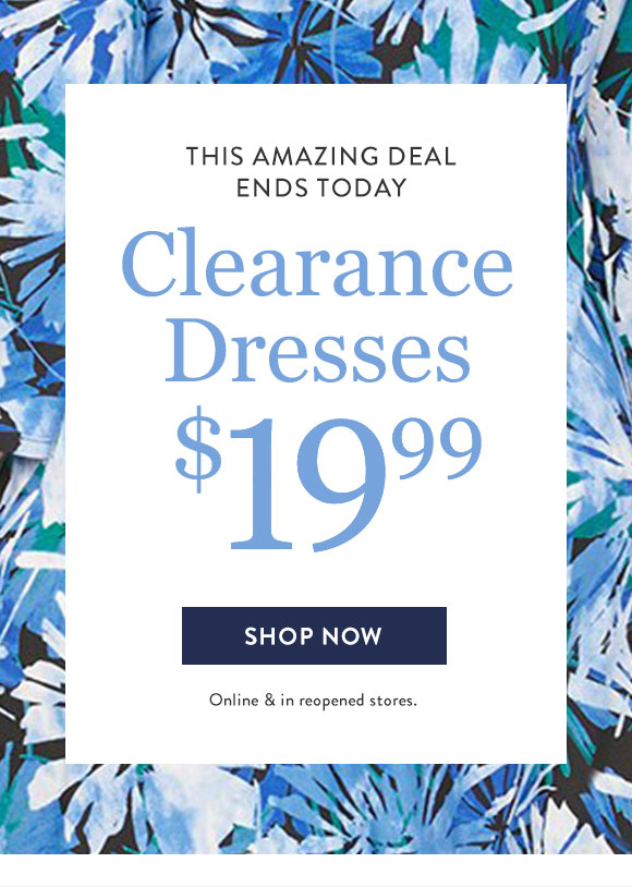 Ends Today Amazing Deal Clearance Dresses $19.99-Shop Now