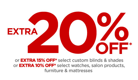 Extra 20% OFF*.