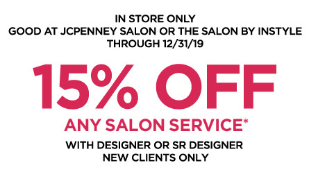 15% OFF any salon service