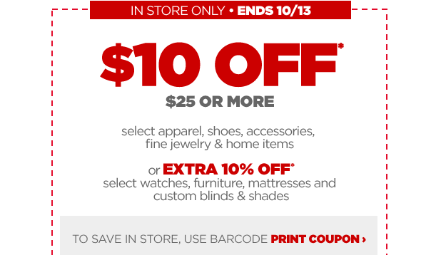 Jcpenney 10 Off 25 Purchase Ship Saves