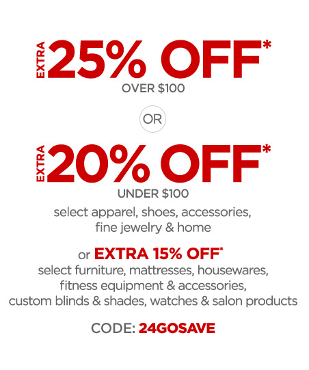 25% OFF over $100*