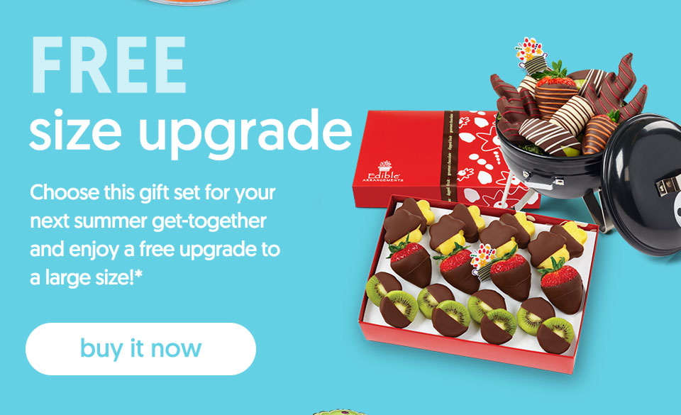 FREE size upgrade - buy it now
