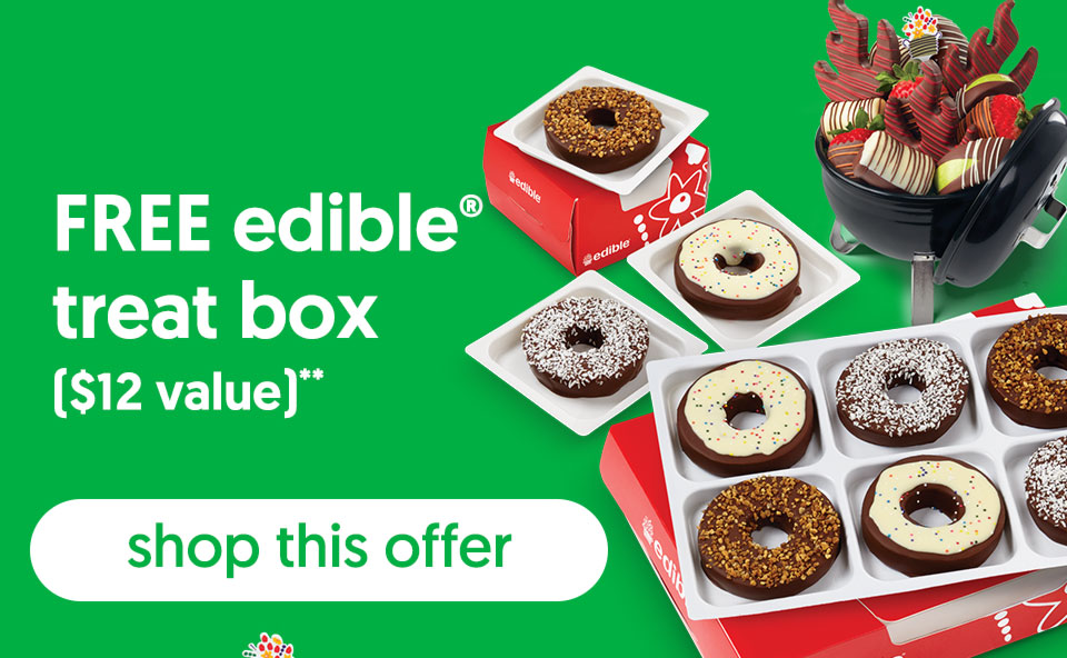 FREE edible® treat box ($12 value)** - shop this offer