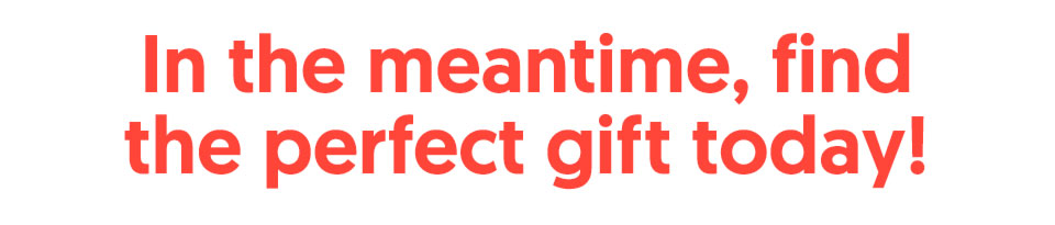 In the meantime, find the perfect gift today!