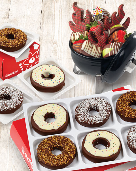 Get a FREE small box of chocolate Dipped Fruit? with your purchase of this gift set!** - shop now
