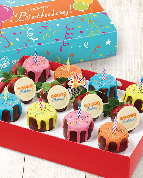 Celebrate birthdays with Pineapple Drip Cakes featuring real candles you can light! - send a gift