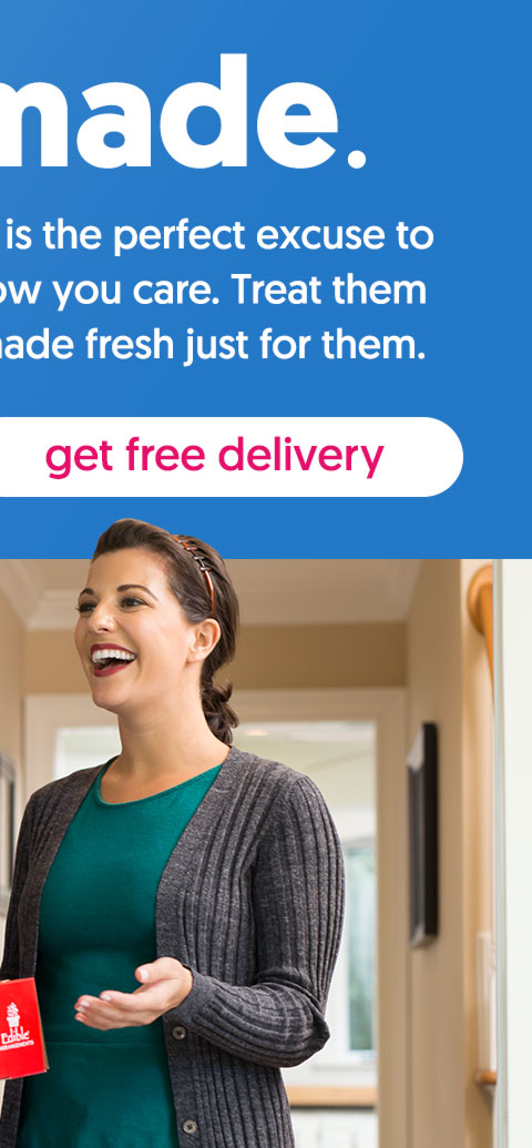 Surprise your friends and family with a delightful treat today. - get free delivery