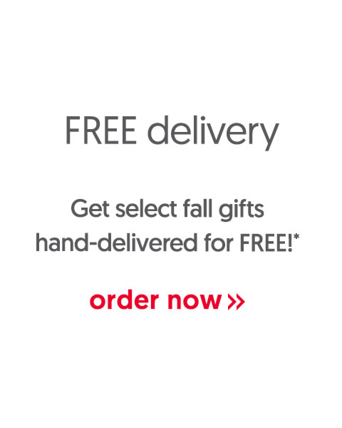Get select fall gifts hand-delivered for FREE! - order now