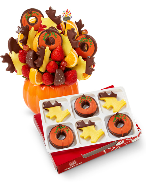 "Get a FREE 6-count chocolate Dipped Fruitâ""¢ box with this gift!- order now"