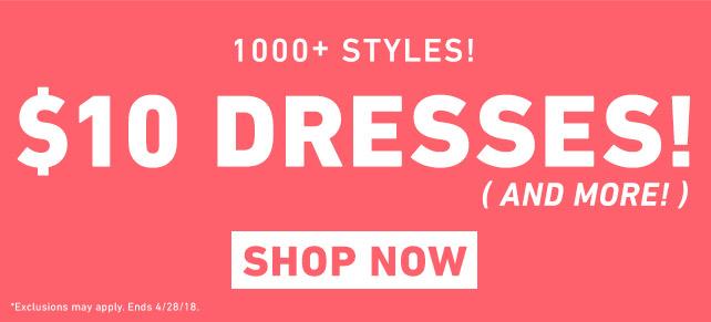 Shop $10 Dresses