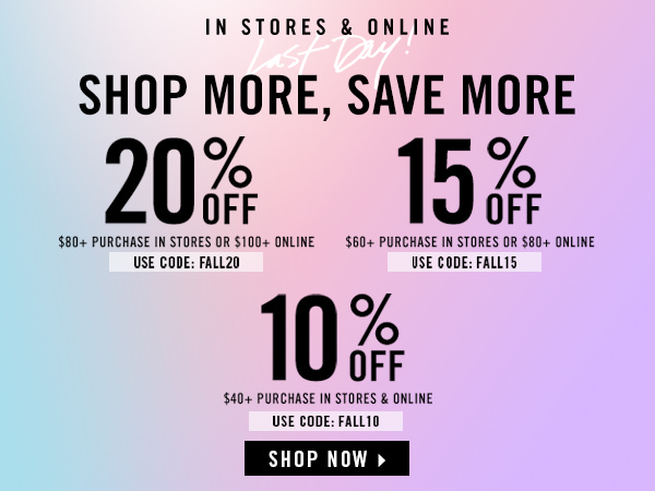 Shop more, save more. GET 20% OFF. | Forever 21 Canada