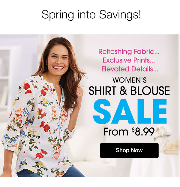 Women's Shirt And Blouse SALE from $8.99 Shop Now