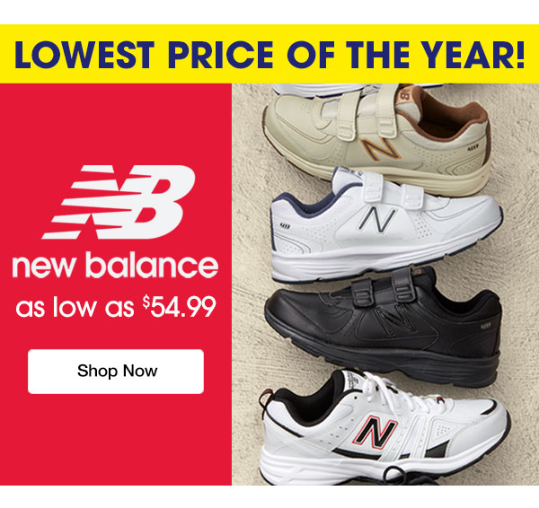 New Balance as low as $54.99