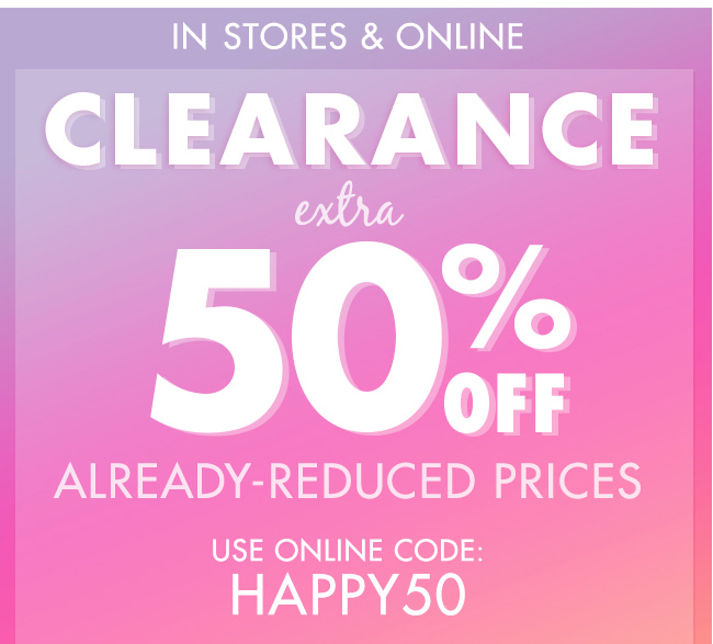 Clearance Extra 50% Off!