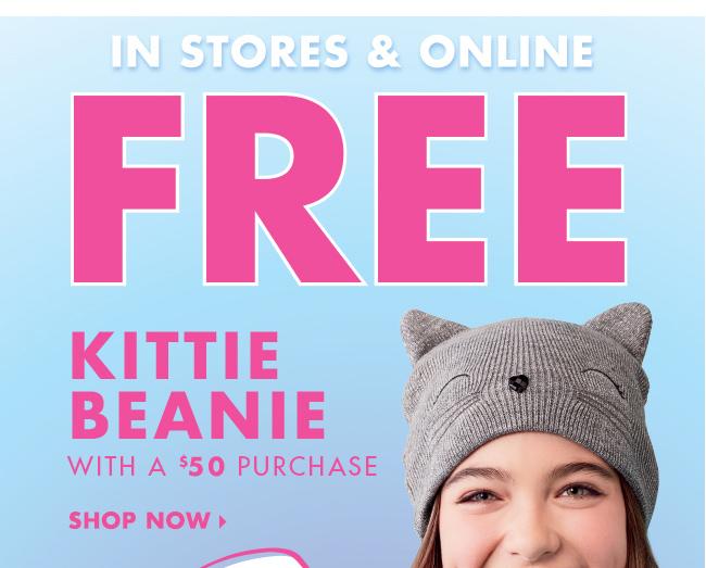 Free Kittie Beanie!