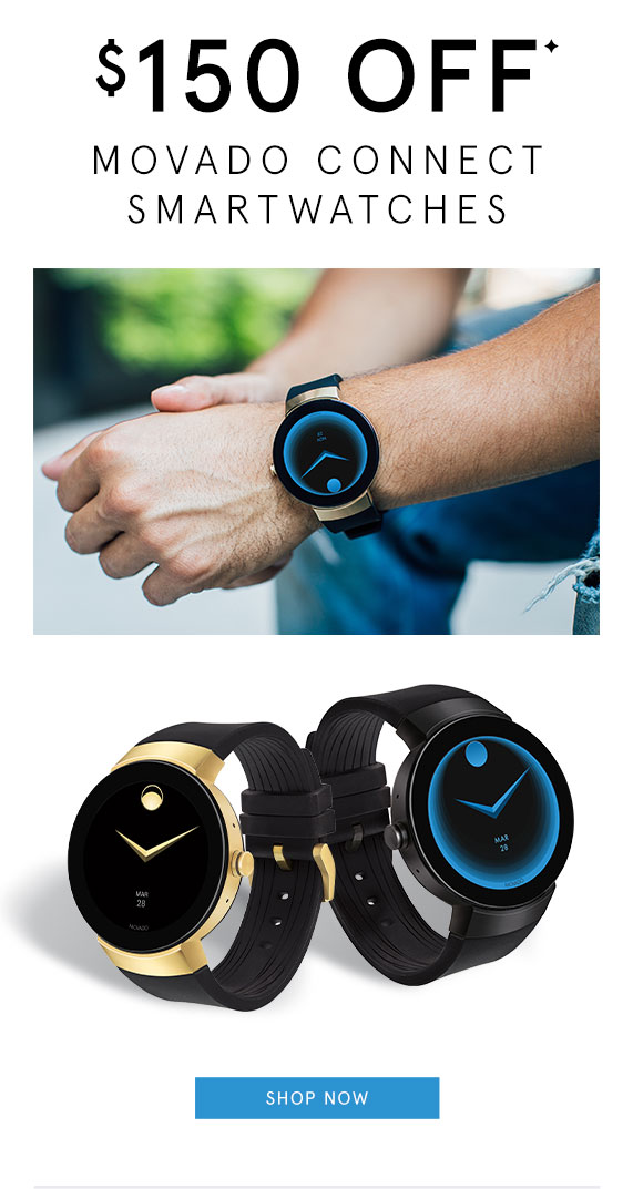 $150 Off Movado Connect Smartwatches