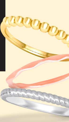 Gold Stackable Fashion Bands