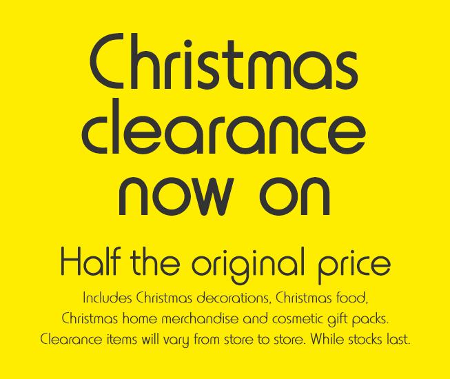 Kmart half price Christmas decorations, food, merchandise ...
