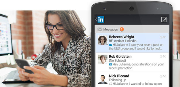 LinkedIn Member with Android app