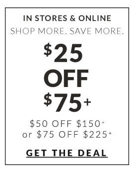 Get $25 off of $75