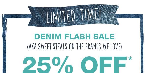 98459c3a63a Denim flash sale (AKA sweet steals on the brands we love)