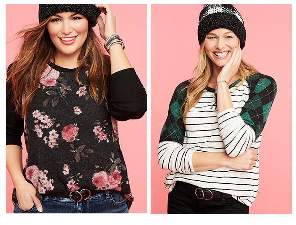 models wearing maurices clothing