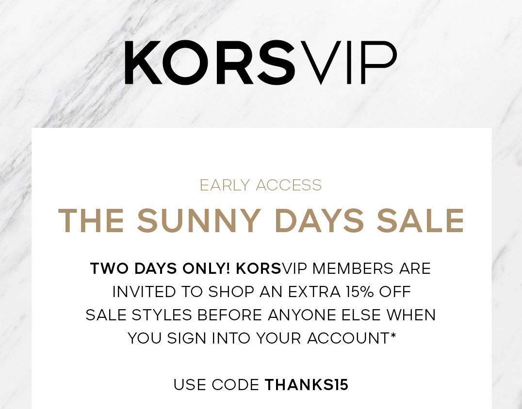 KORSVIP EARLY ACCESS THE SUNNY DAY SALE