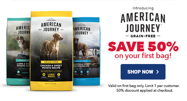 American Journey | SAVE 50% on your first bag! | Shop Now >