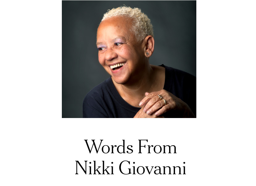 Words From Nikki Giovanni