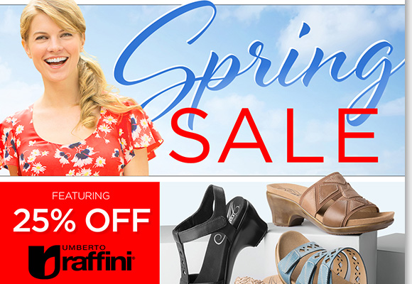 Save 25% on a great selection of Raffini styles during our Spring Sale! Plus, find great savings on ABEO, Dansko, ECCO and more great brands during our spring savings deals! Shop now to find the best selection online and in-stores at The Walking Company.