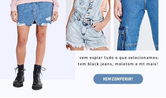 Jeans + Básicos = aposta certeira | Elas