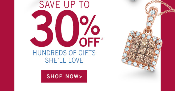 Save Up To 30% Off* Hundreds Of Gifts She'll Love | Shop Rings, Bracelets, Earrings , Necklaces, Watches and Accessories from Zales ? The Diamond Store