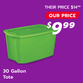 Image of 30 Gallon Tote Container