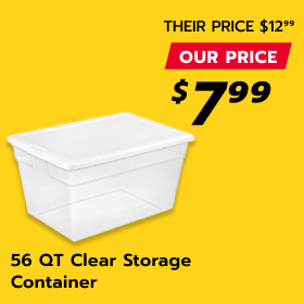 Image of 56 Qt. Clear Storage Container