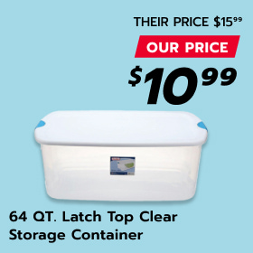 Image of Clear Storage Container 64 Quart